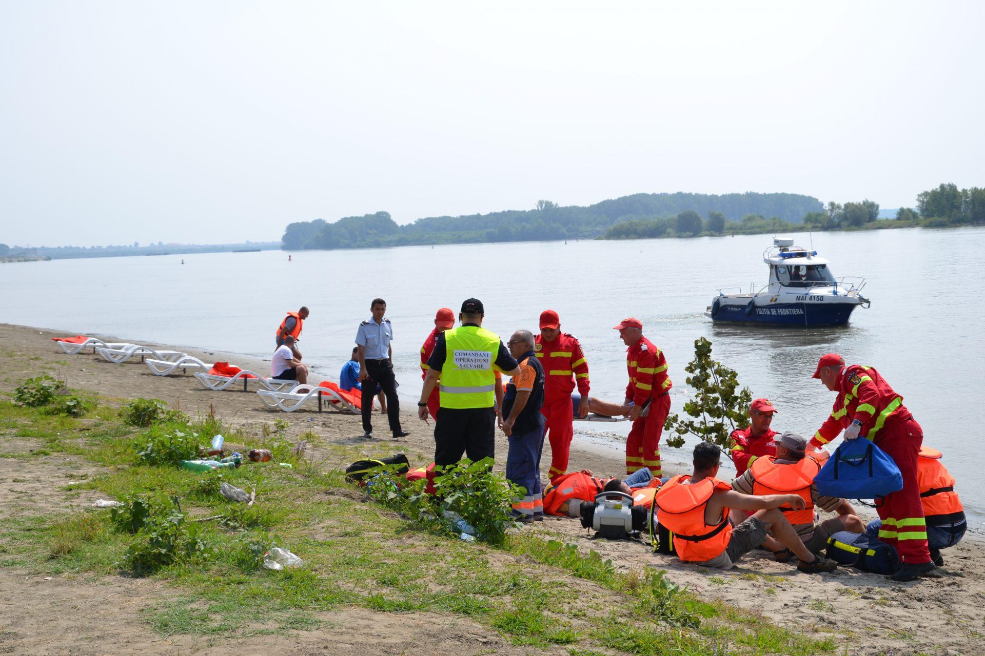 Simulare, accident naval cu victime multiple, pe Dunăre
