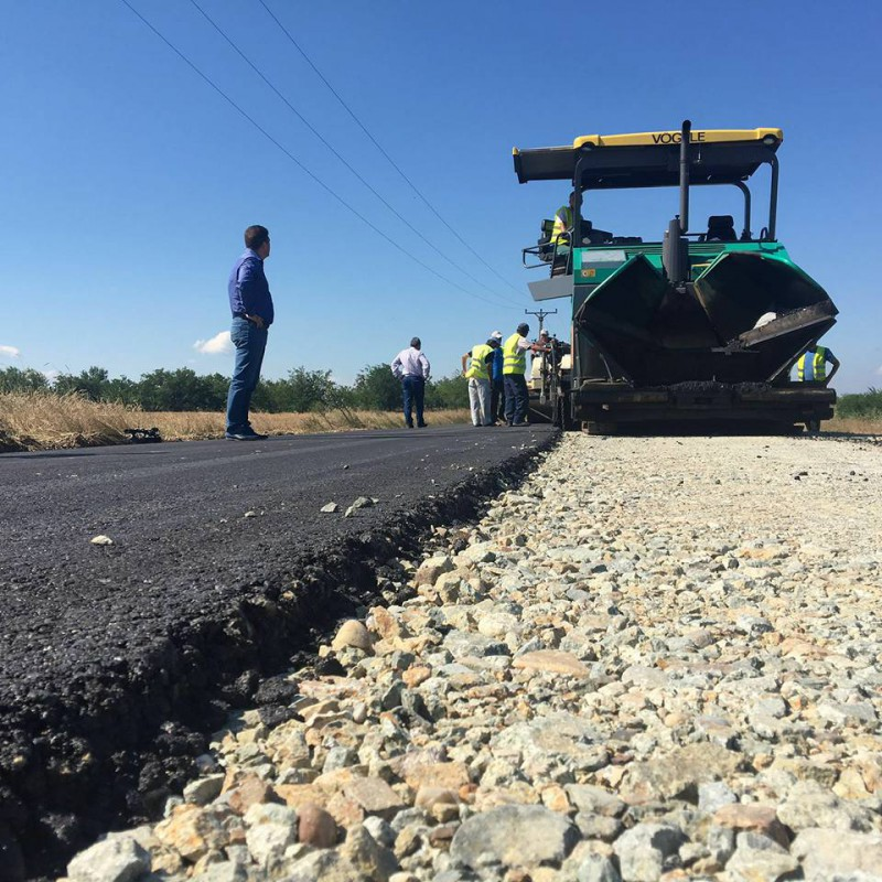 Drumul paradit către vama PF2 cu Serbia este asfaltat de CJ Mehedinţi