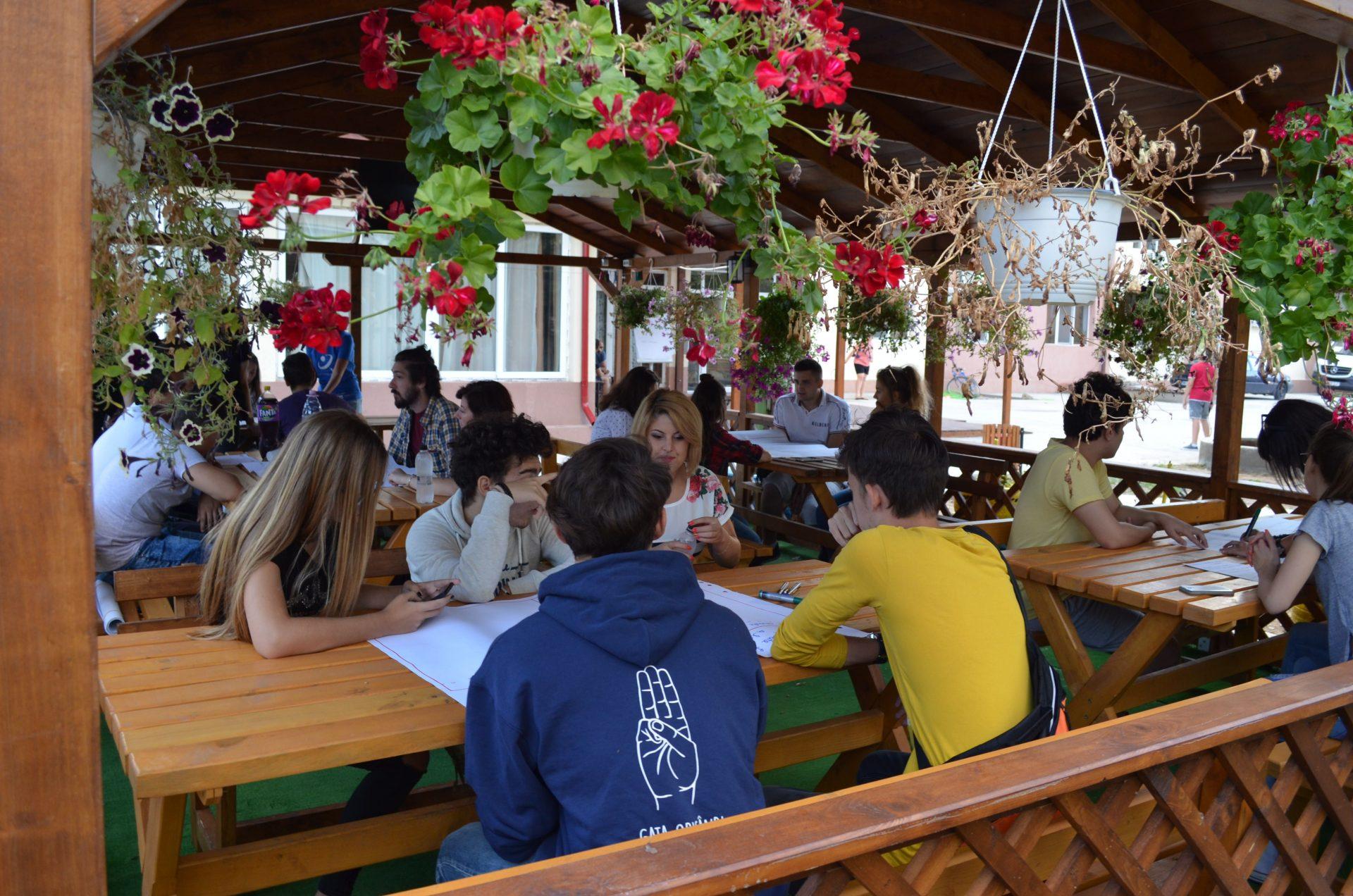 Cafeneaua publică de lucrători de tineret voluntari, şi la Mehedinţi