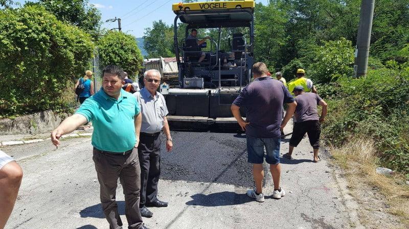 Mare asfaltare la Orşova-Mehedinţi