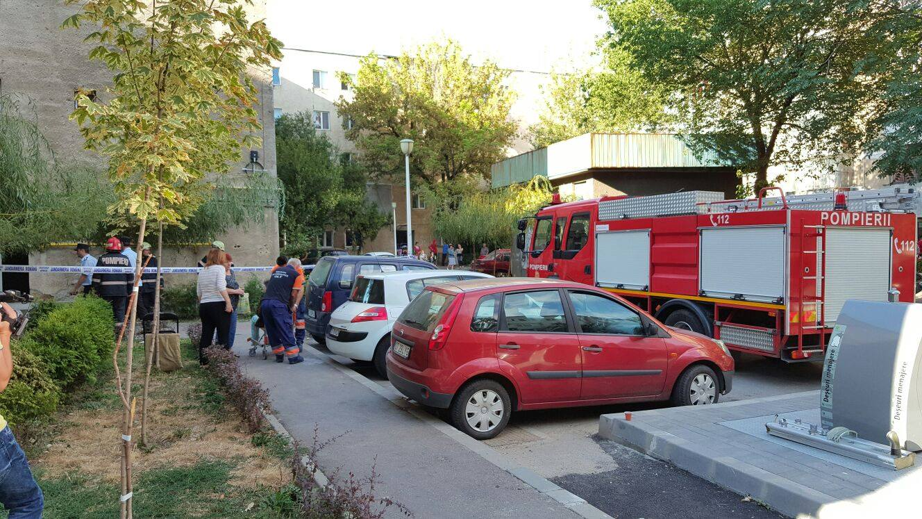 Bloc evacuat la Slatina