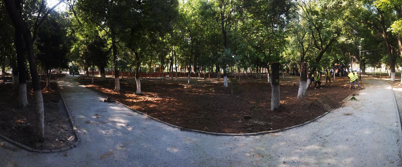 Parcul Puşkin se schimbă la faţă