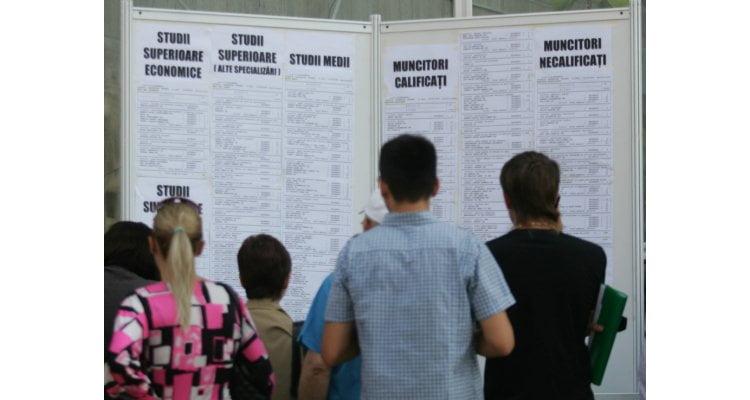 Șomajul în județ scade cu viteza melcului