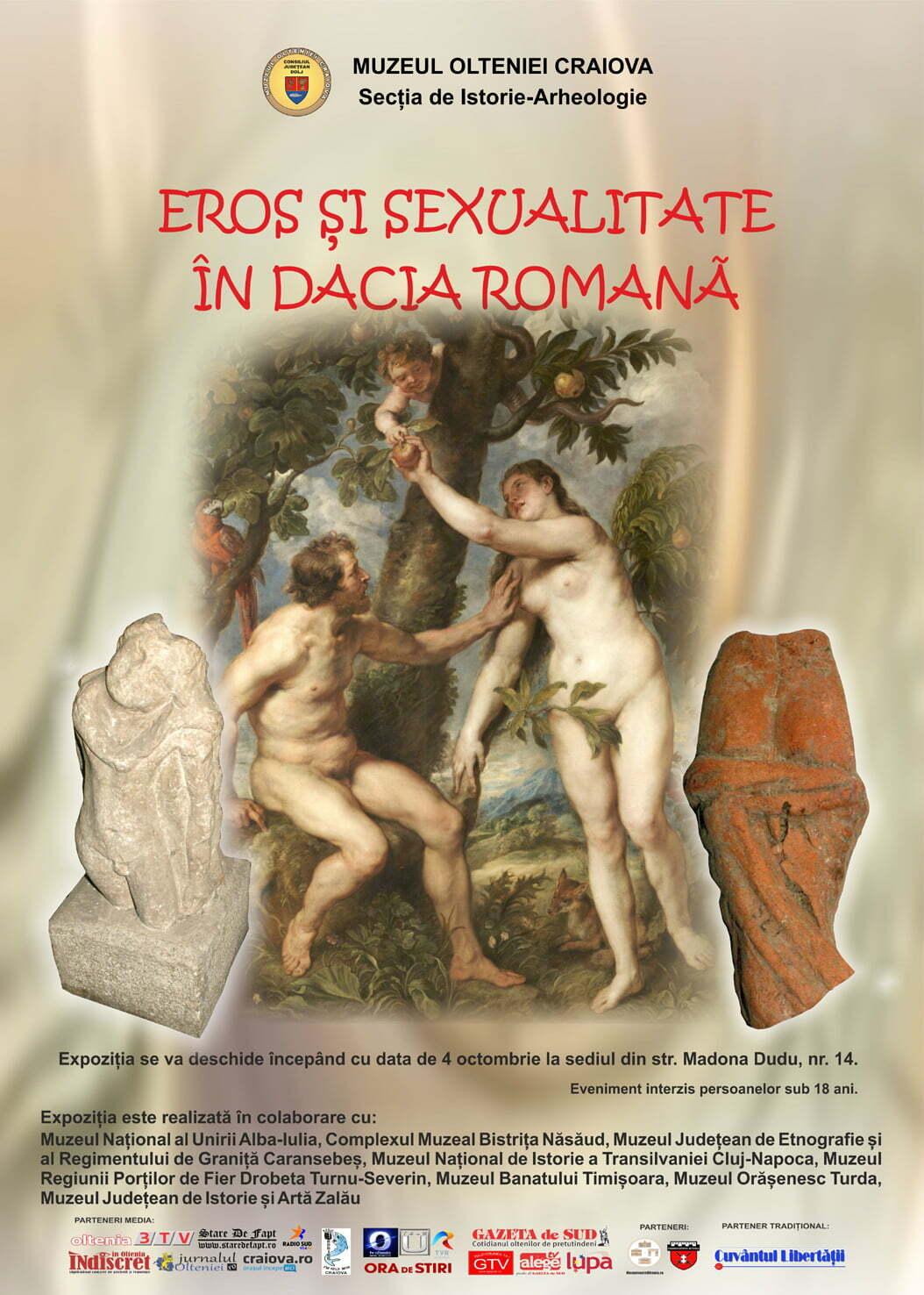 Expoziția Eros și sexualitate în Dacia Romană la Muzeul Olteniei