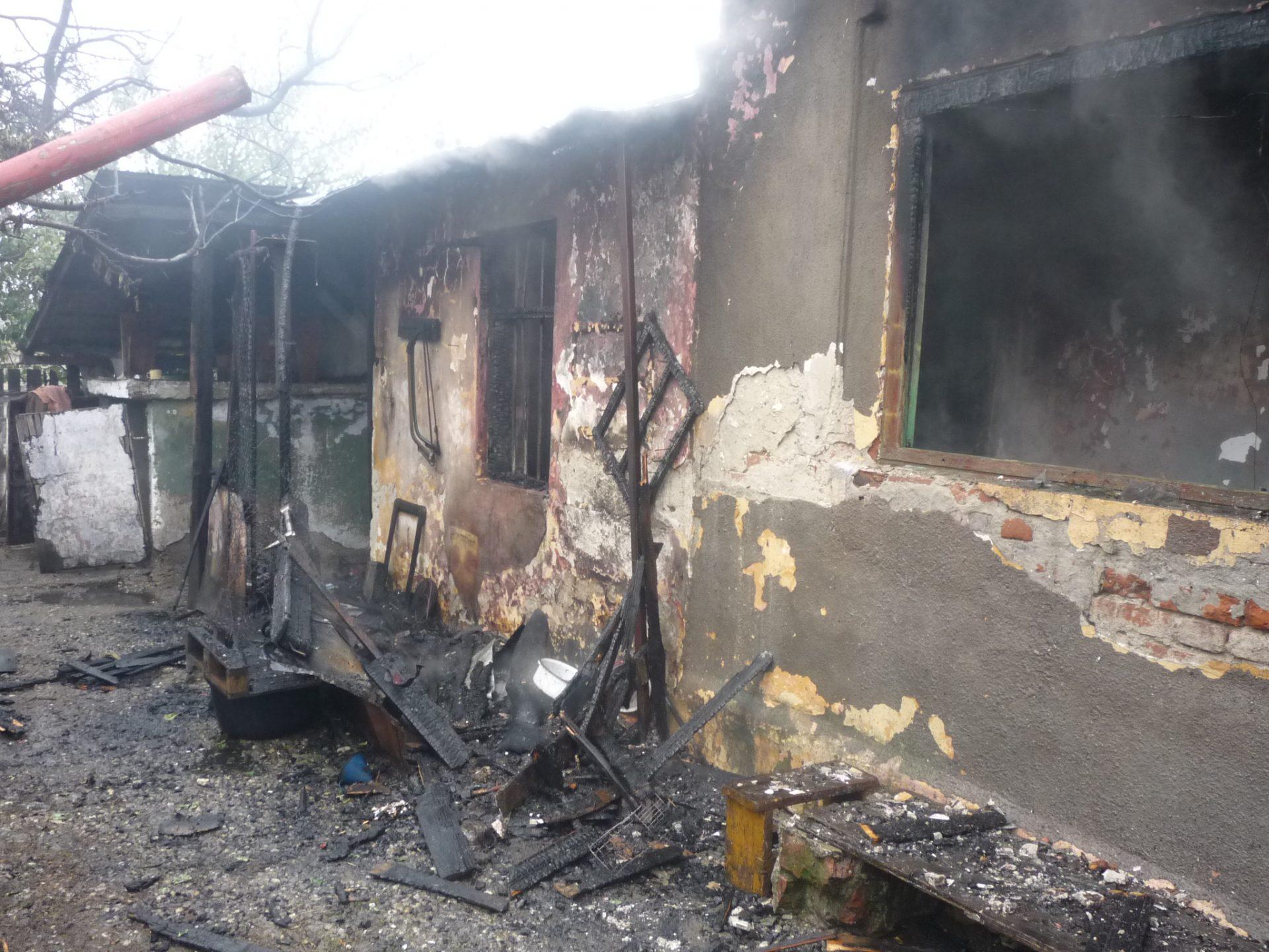 Slatina: Gospodărie distrusă de incendiu