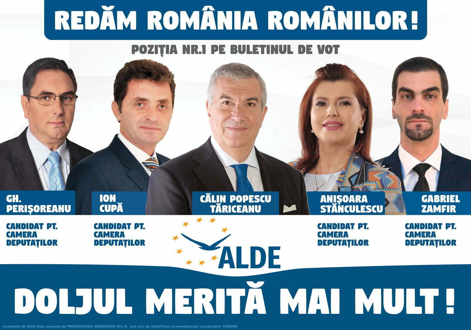 ALDE DOLJ: Cerem PNL să accepte o confruntare electorală cu ALDE pe tema soluţiilor liberale pentru România