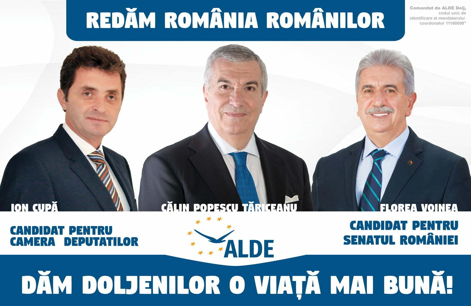 ALDE DOLJ: Cerem preşedintelui României să respecte votul românilor