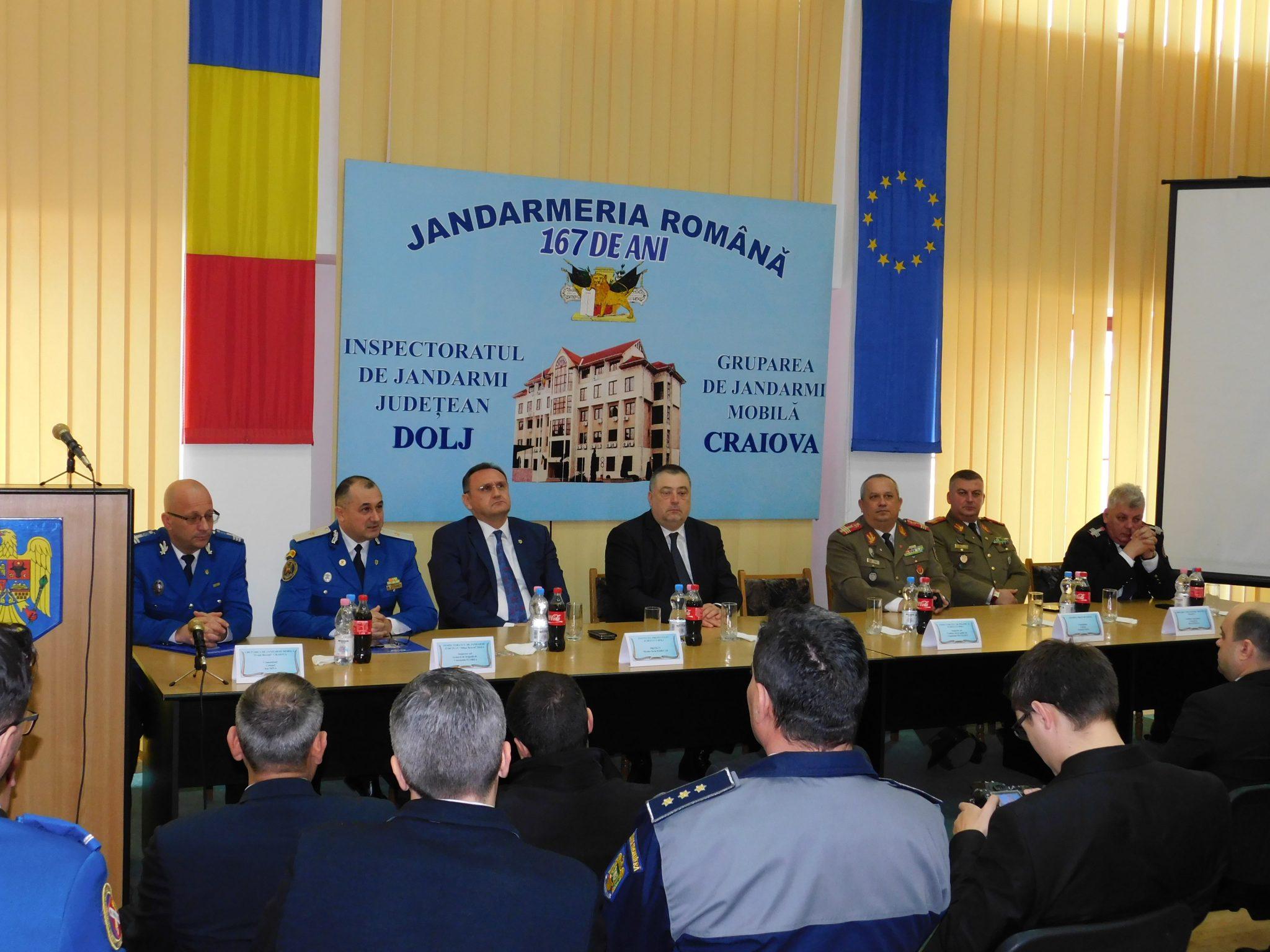 Jandarmeria Dolj, la ora bilanțului