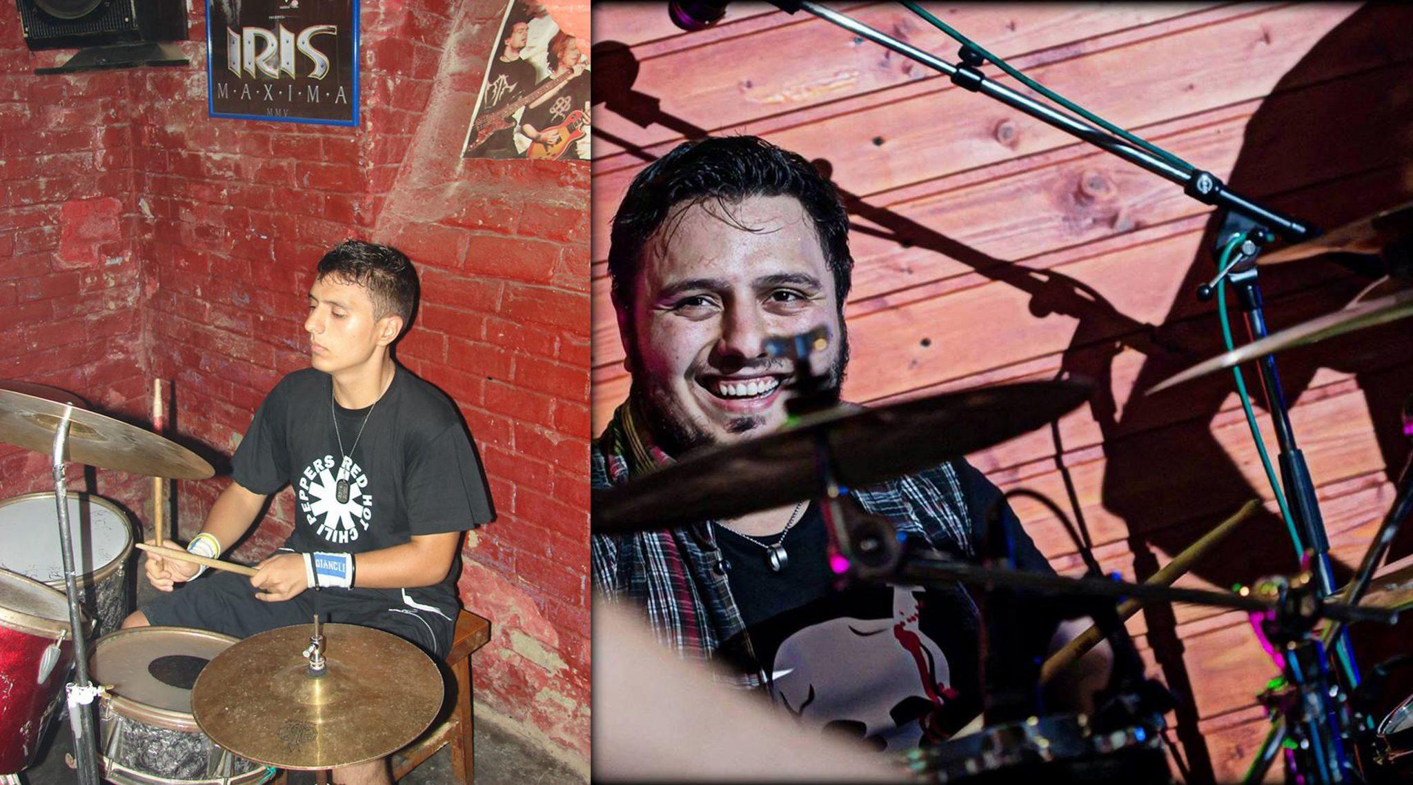 Bogdan, în urmă cu zece ani, la primul său concert cu trupa, și Bogdan, în urmă cu câteva luni, la un concert cu aceeași trupă.