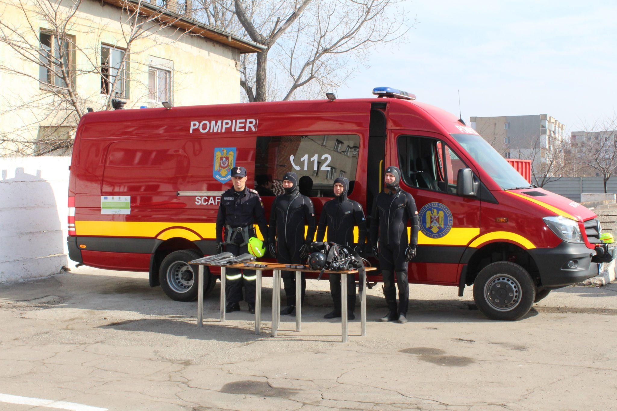 Echipaj de scafandri, operaţionalizat la ISU Olt