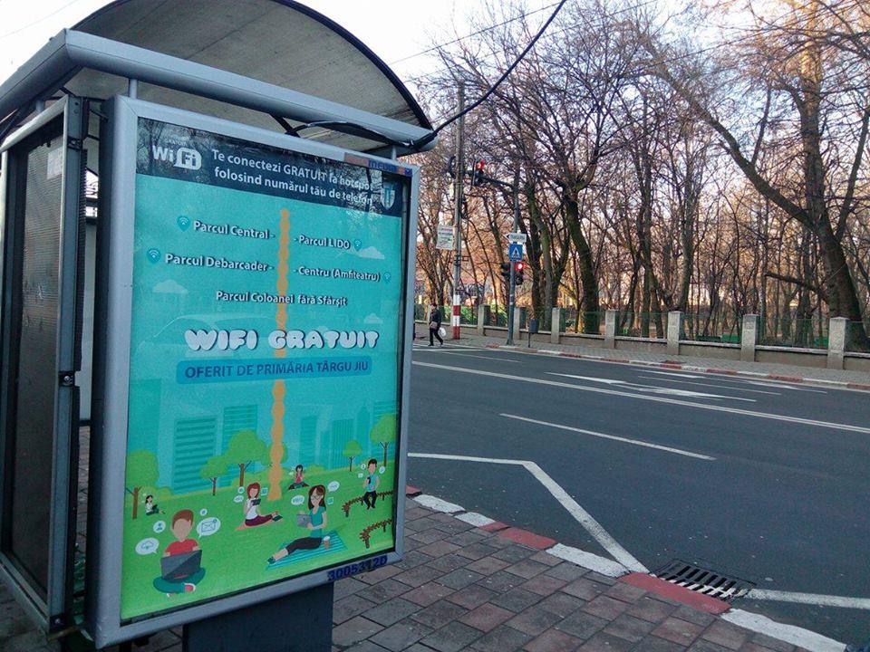 Cinci zone cu wireless gratuit, în Târgu Jiu