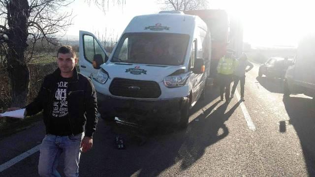 Accident în lanţ, la ieşirea din Balş spre Craiova