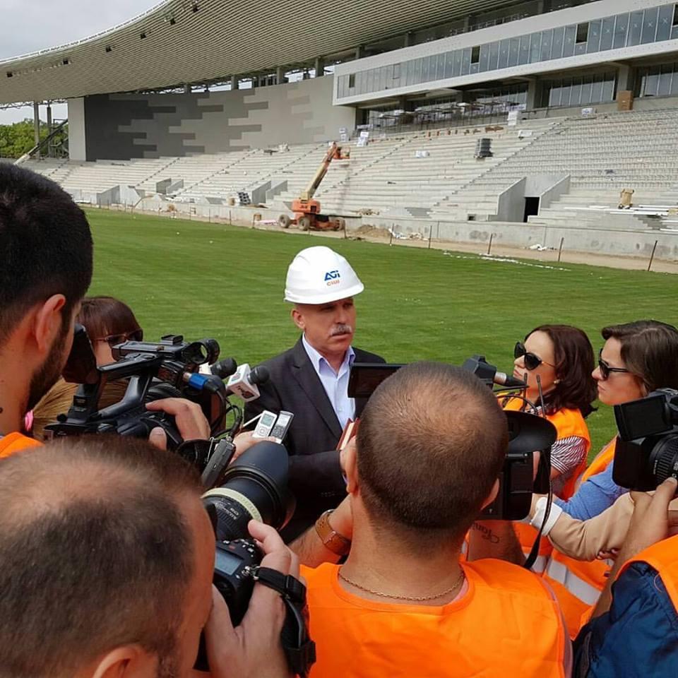 Stadionul din Târgu Jiu ar putea fi gata la finele lui iulie