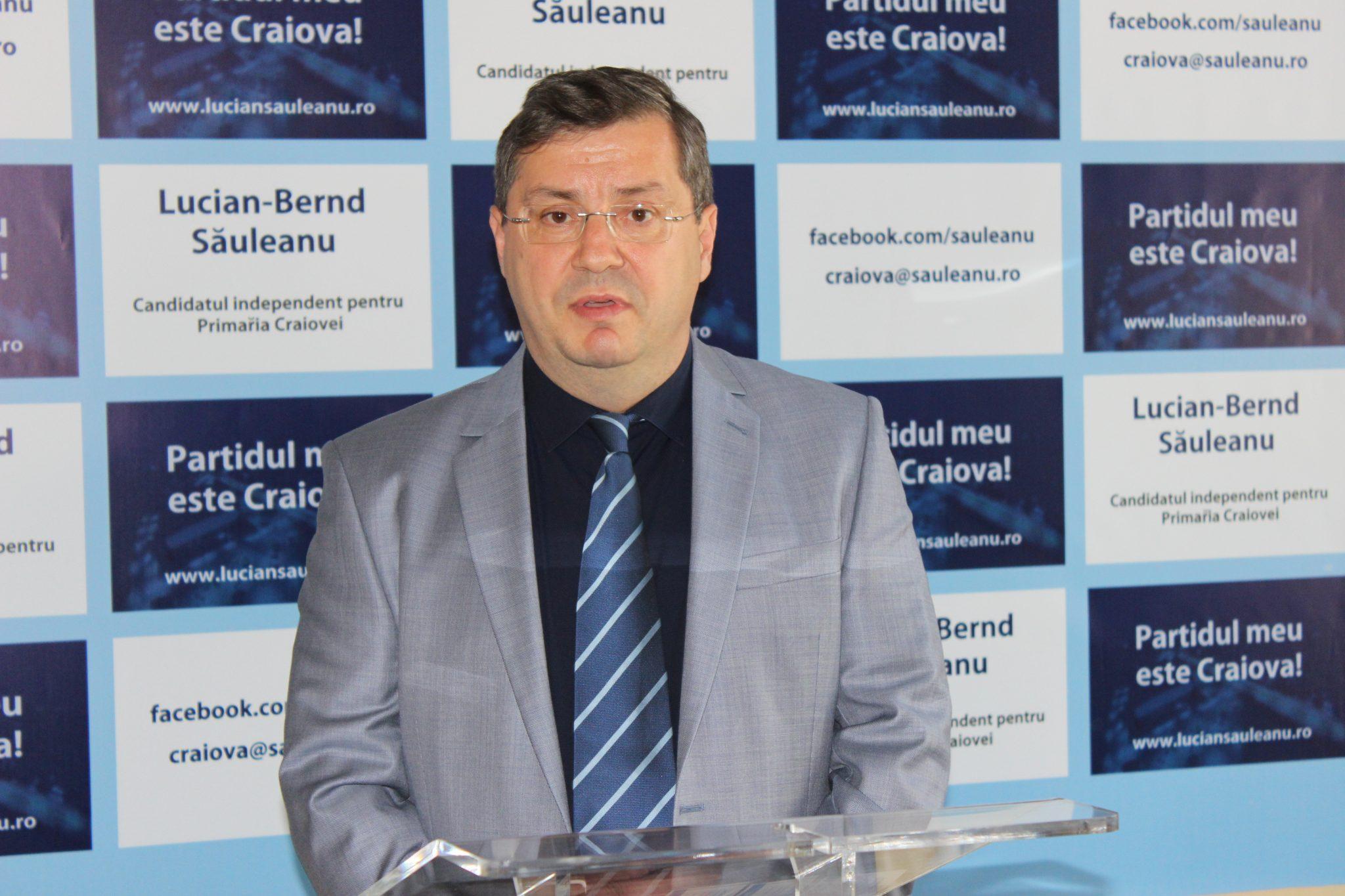 Săuleanu: Ca structură umană și pregătire profesională sunt liberal, dar mă adresez tuturor craiovenilor de la care preiau idei și soluții