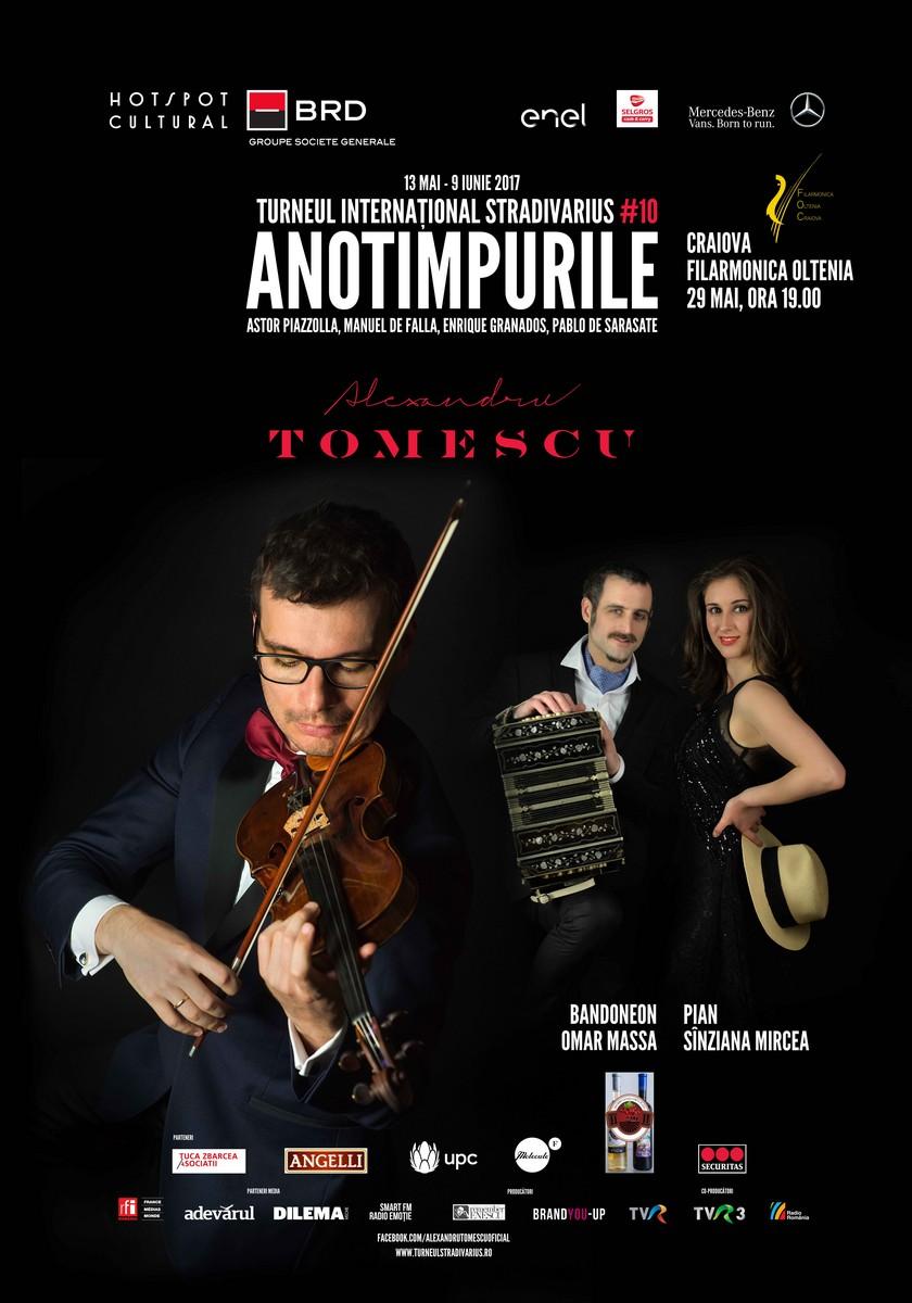 Turneul Stradivarius 2017 ajunge la Craiova pe 29 mai