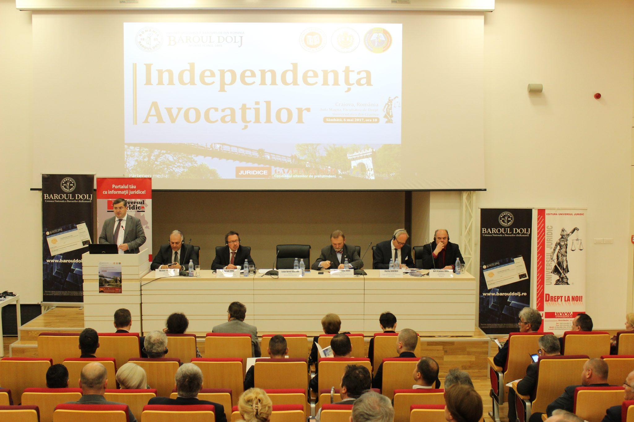 Reprezentanţii Barourilor de Est din cadrul Federaţiei Barourilor din Europa s-au întrunit la Craiova