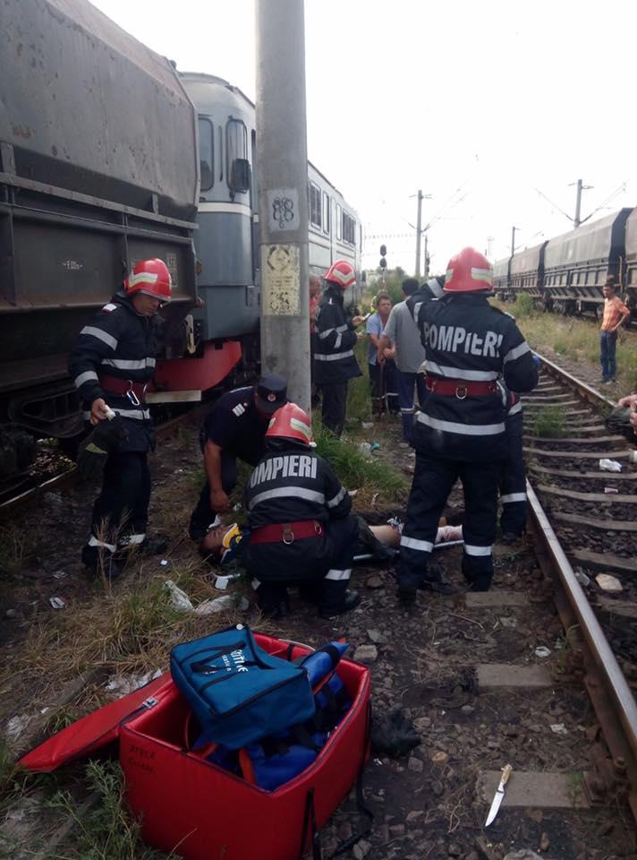 Accident feroviar în gara Turceni