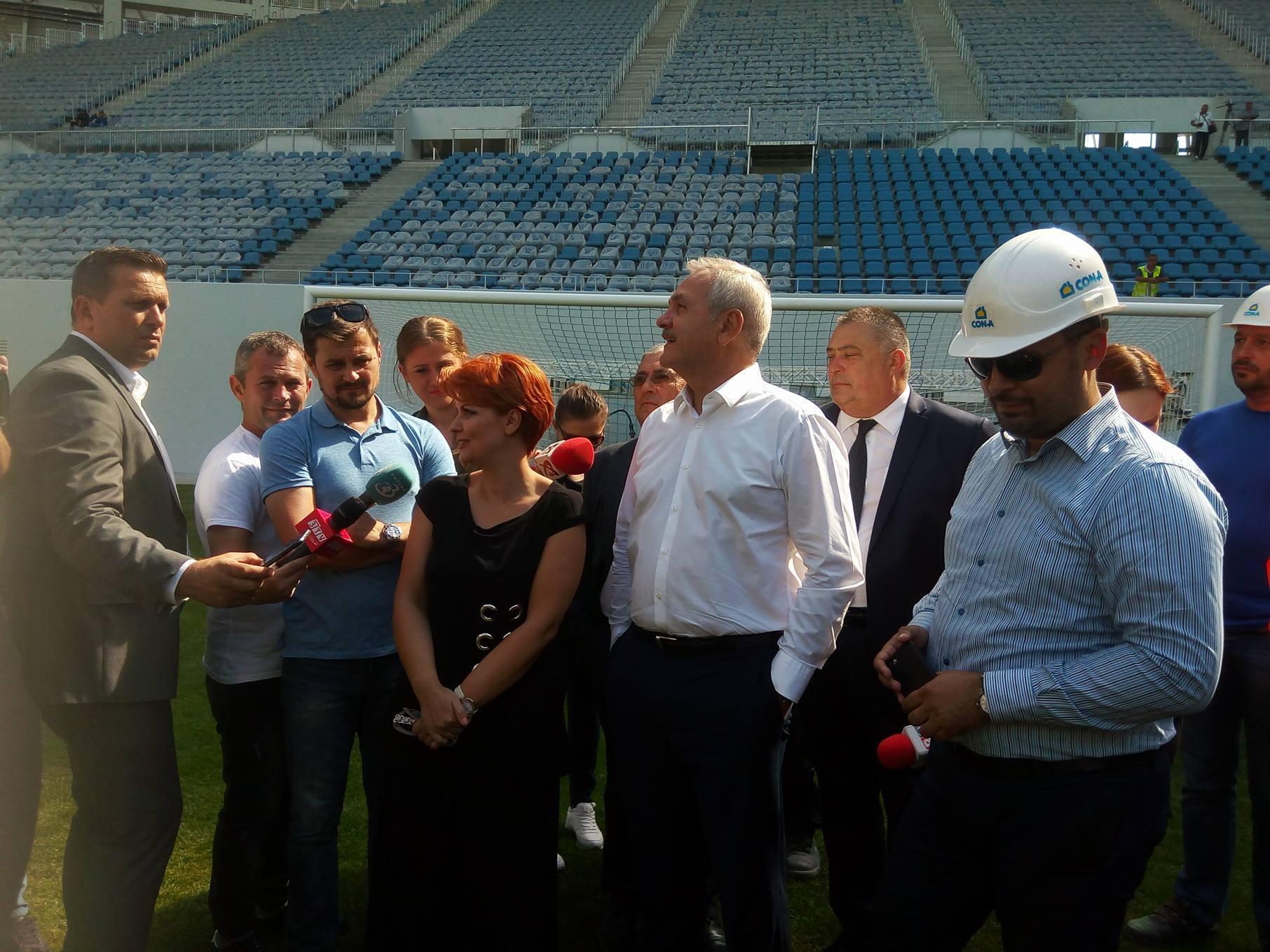 Dragnea și Olguța, în vizită la noul stadion al Craiovei