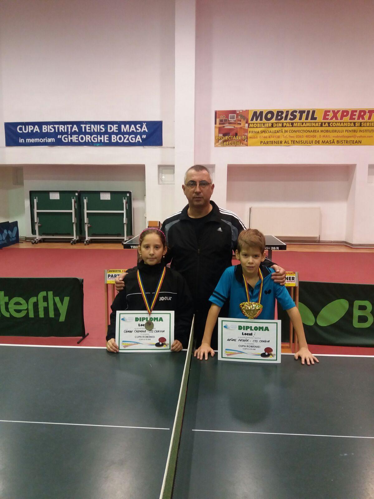 Un aur și un bronz la Cupa României pentru micuții tenismeni