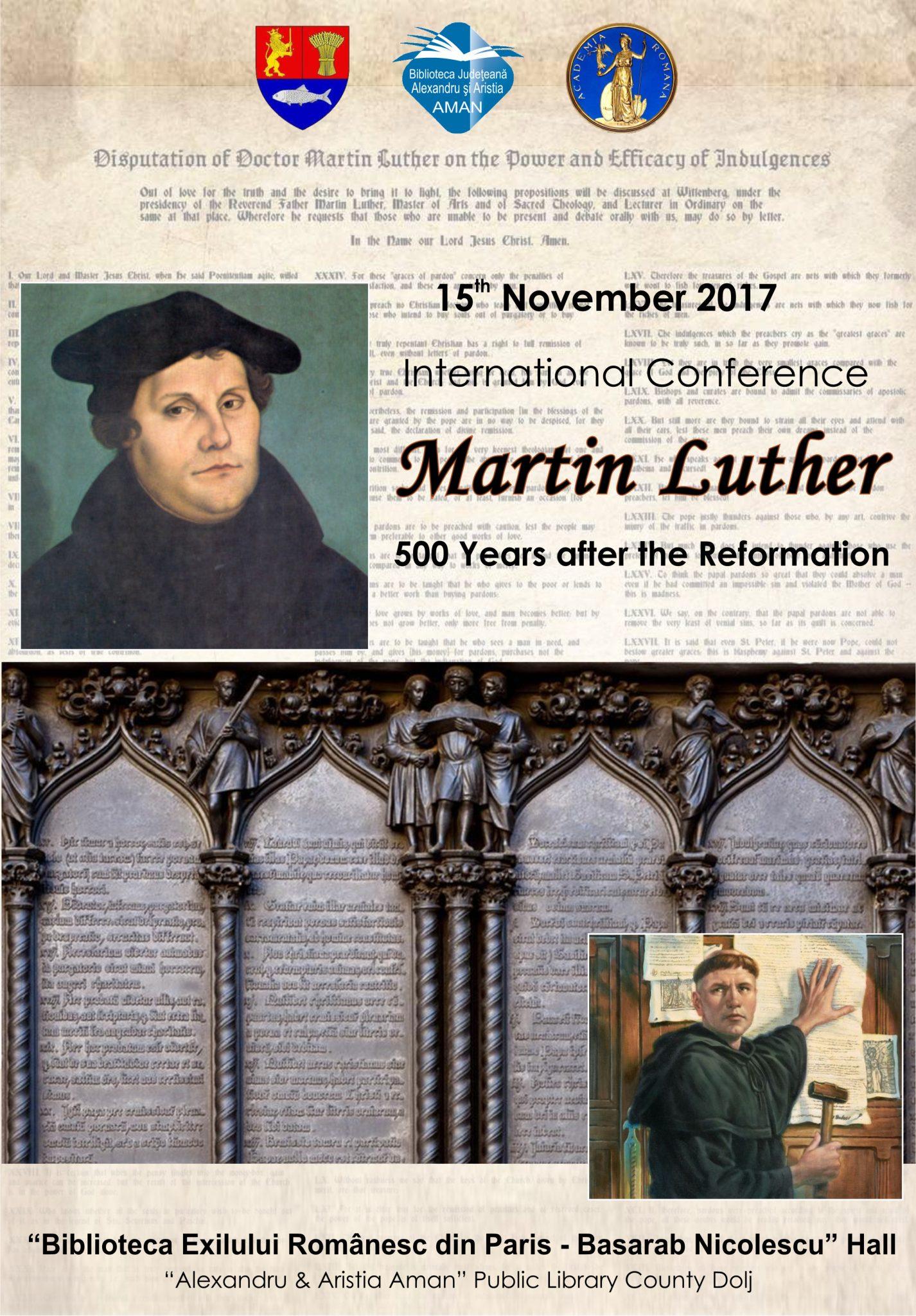 "Conferința internațională ""Martin Luther: 500 Years after the Reformation"""