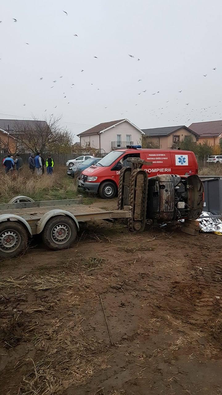 Tânăr din Dolj, ucis de un mini buldoexcavator