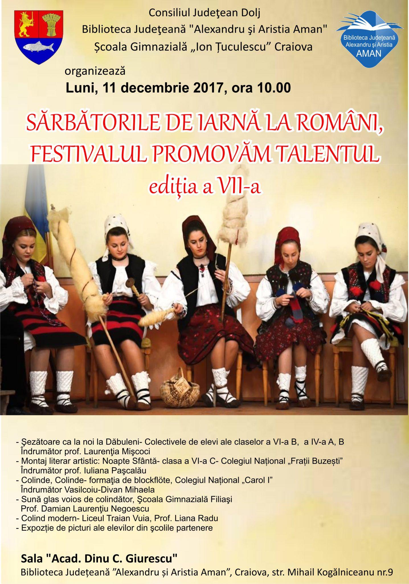 Sărbătorile de iarnă la români. Festivalul Promovăm Talentul
