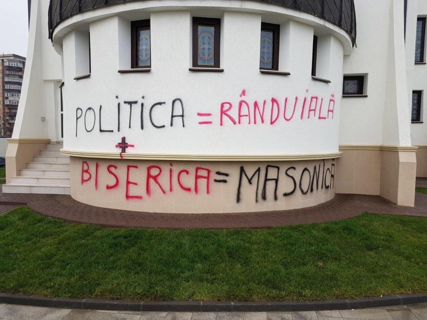 Catedrala din Ostroveni, vandalizată din nou