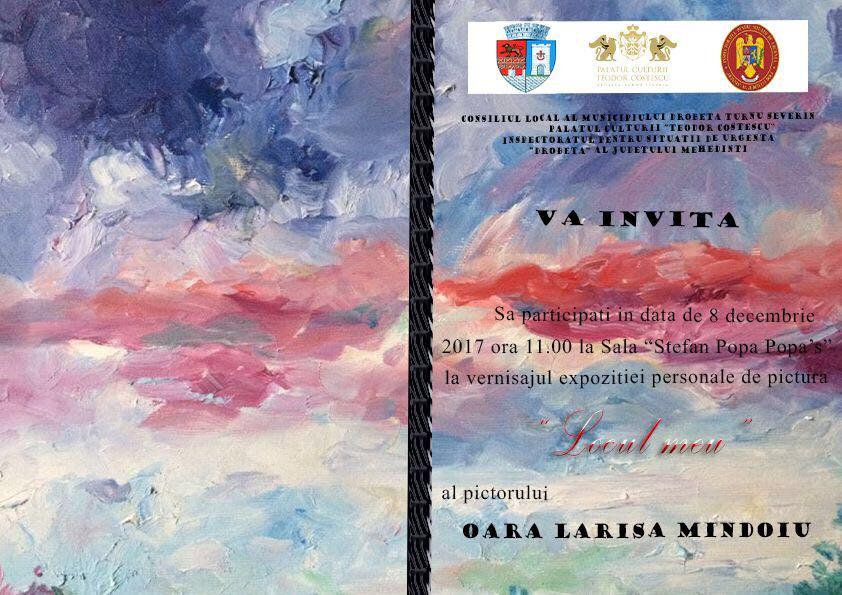 Mehedinți: Expoziție de pictură a unui pompier, la Severin