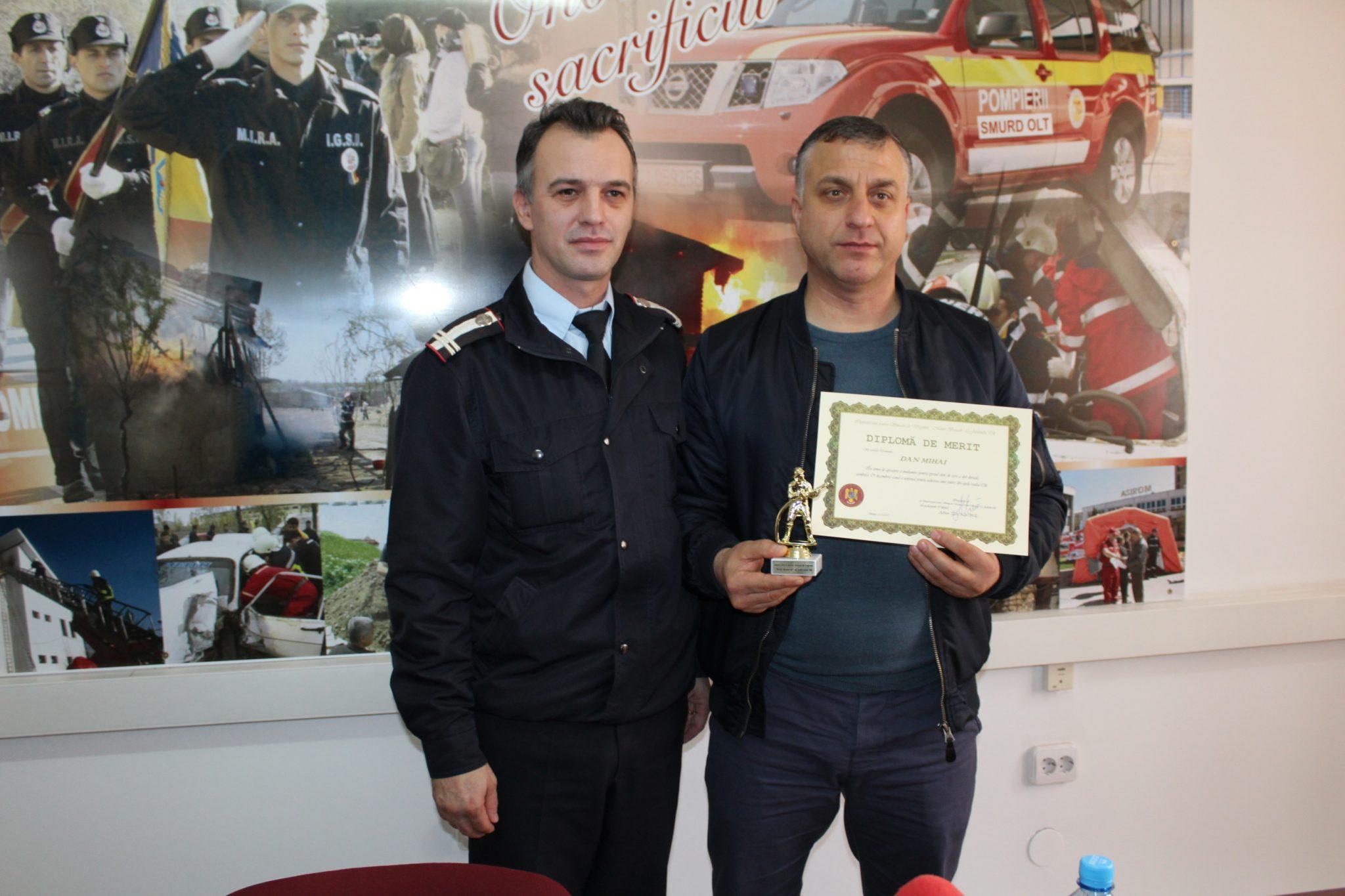 VIDEO/Eroul de la podul Olt, premiat de ISU