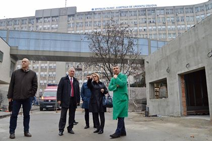 Președintele CJ Dolj, vizită pe șantierele de la SJU Craiova