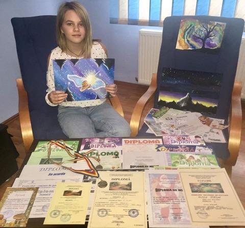 Pasionată de pictură, Relly Oanță are planuri mari pentru viitor