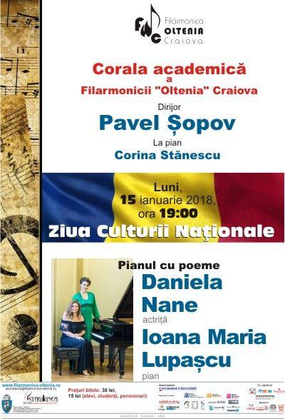 """Spectacol de Muzică și Poezie la Filarmonica """"Oltenia"""""""