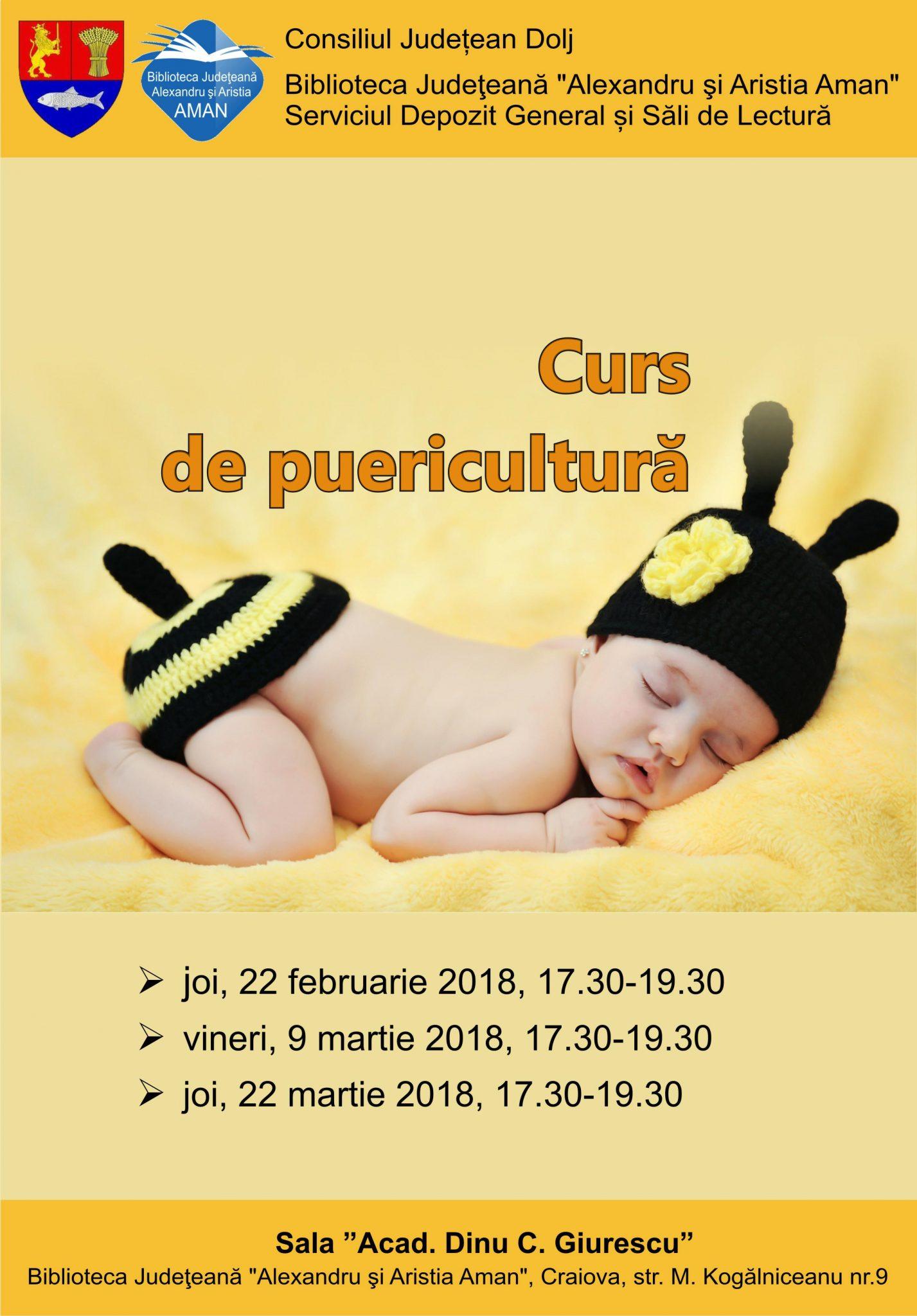 """Craiova: Curs de puericultură la la Biblioteca """"Aman"""""""