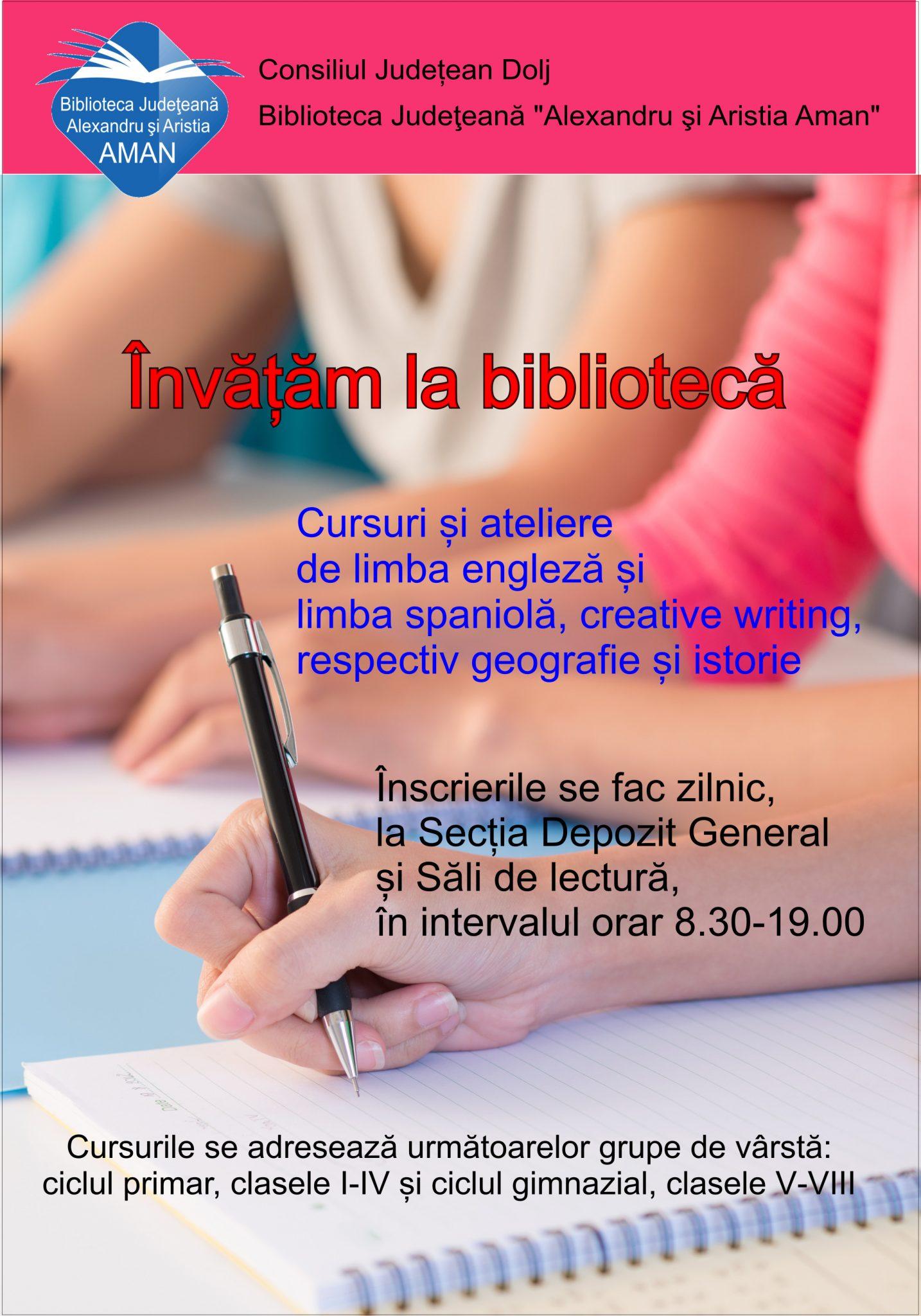 "Craiova: ""Învățăm la bibliotecă"""