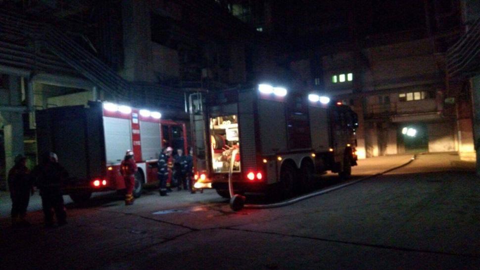 Incendiu la Termocentrala Turceni