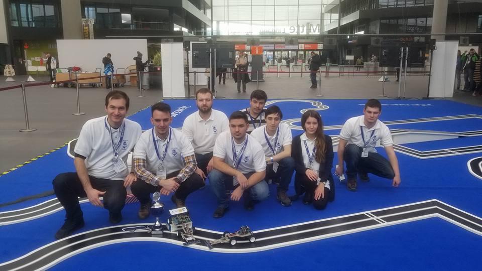 Studenţii Facultăţii de Automatică, Calculatoare şi Electronică, medaliaţi la MCU Rally Car 2018