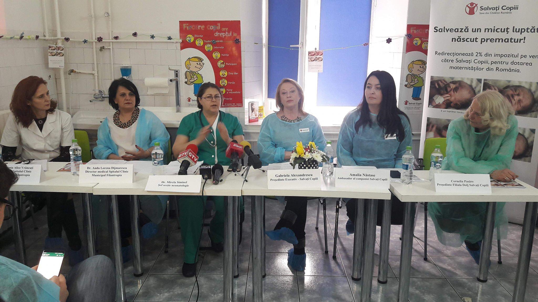 Donaţii pentru salvarea copiilor născuţi prematur la Filantropia