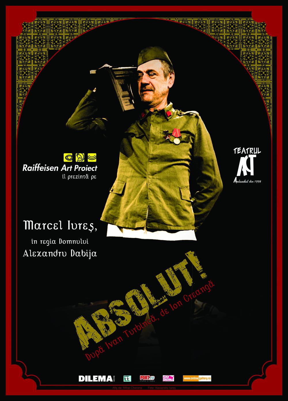 ABSOLUT! cu Marcel Iureș, la Teatrul Colibri,  în Stagiunea Colibri. ACTul2