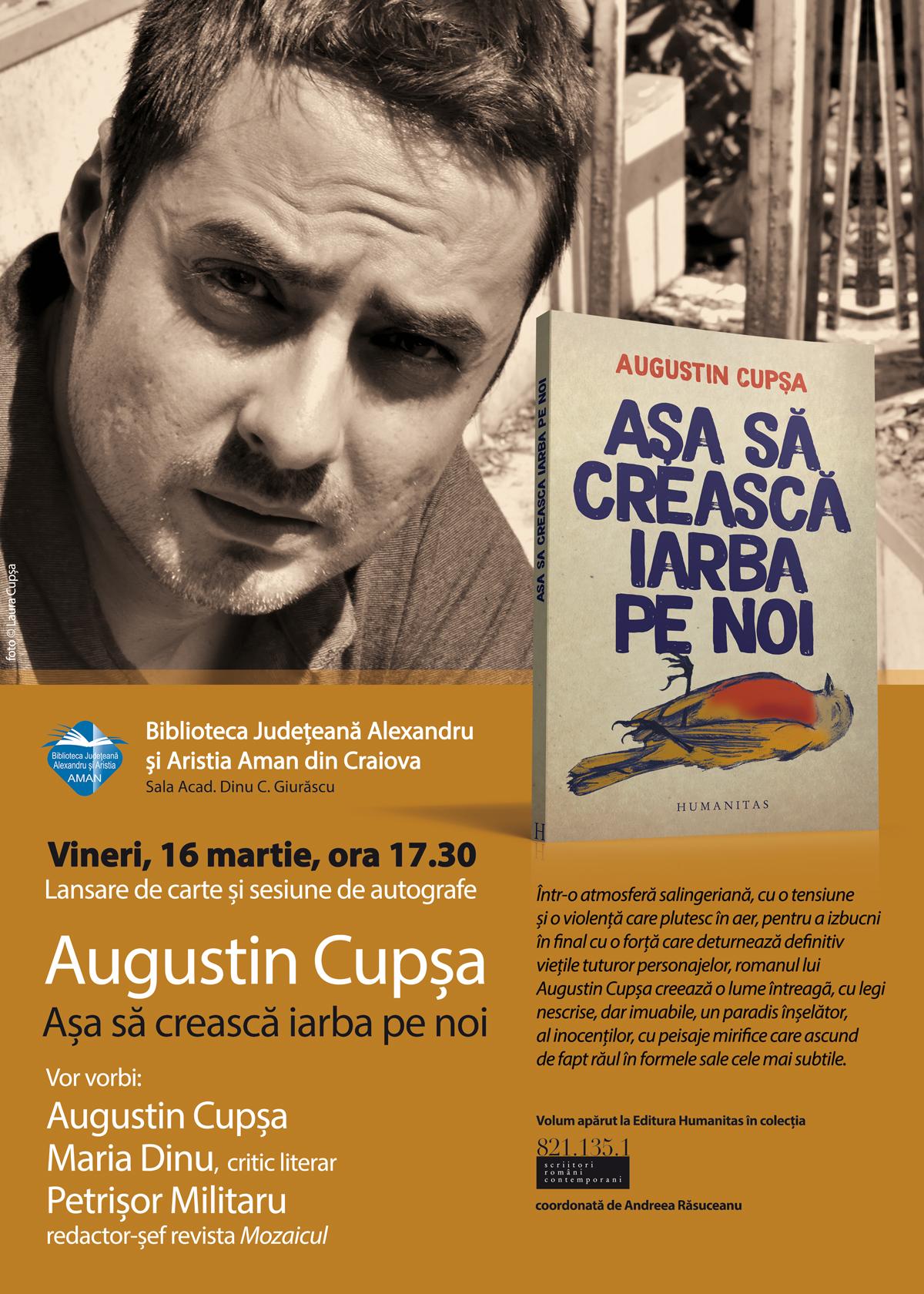 Craiova: Lansare de carte la Biblioteca Aman