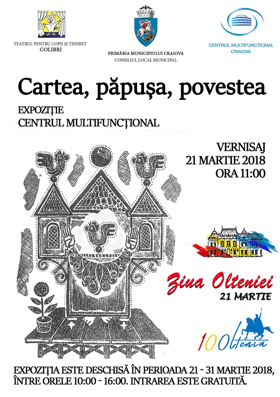De Ziua Olteniei, păpușile și poveștile Teatrului Colibri Craiova se reunesc la Centrul Multifuncțional