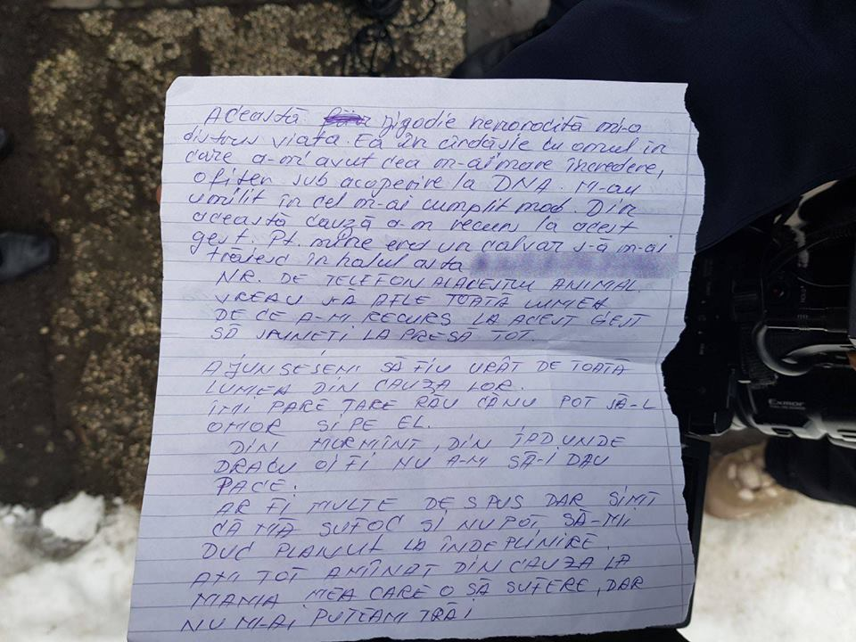 Crimă la SJU Slatina. Infirmierul planificase uciderea asistentei. A lăsat un bilet de adio