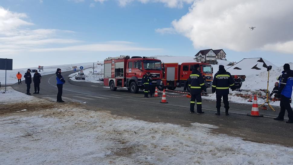 Simulare de cutremur în Gorj. Pompierii, chemați de urgență în Rânca