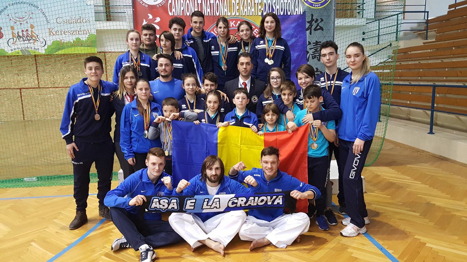 Karatiștii craioveni i-au lăsat fără medalii la CN de Shotokan