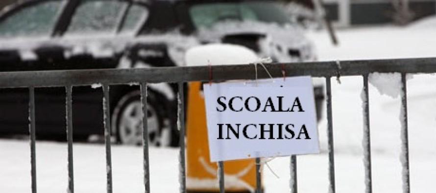 Vâlcea: Zeci de școli și grădinițe au fost închise din cauza vremii
