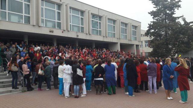 Protest spontan la SJU Craiova