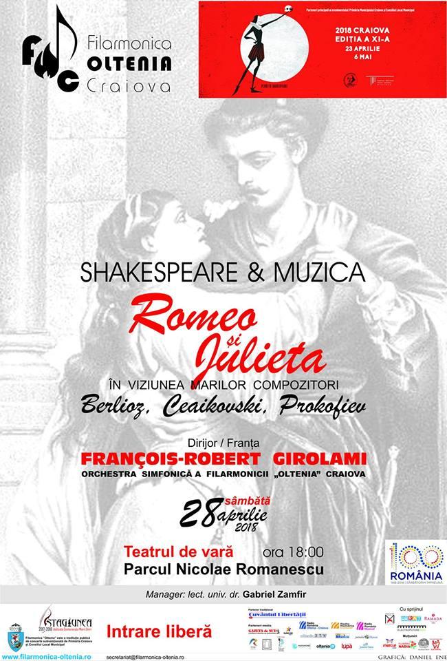 """Craiova: Concert """"Romeo și Julieta"""" în Parcul Romanescu"""