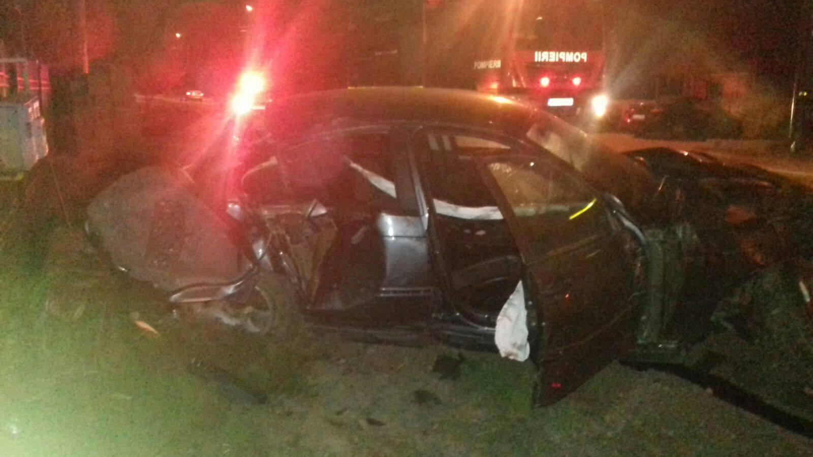 Accident la Drăgoieni. Trei bărbați au ajuns la spital