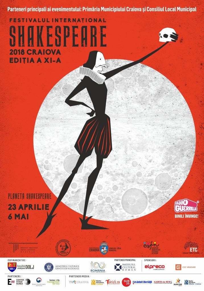 Spectacolele din cadrul Festivalului Internațional Shakespeare, programate pentru joi