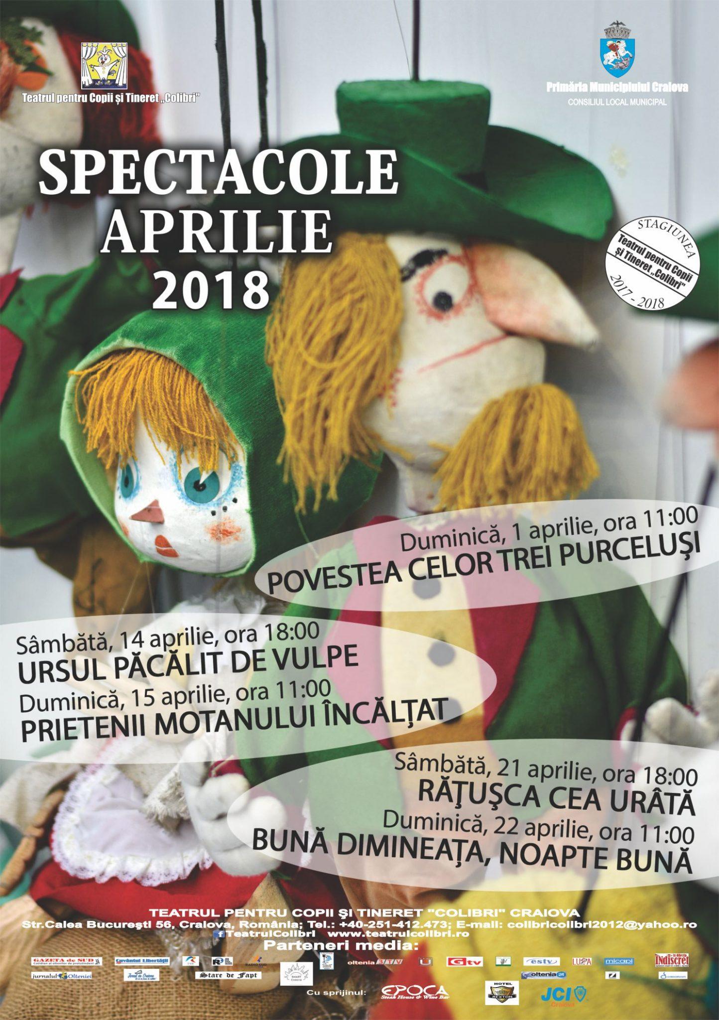Spectacole în week-end și ateliere de creație, de luni, la Teatrul Colibri