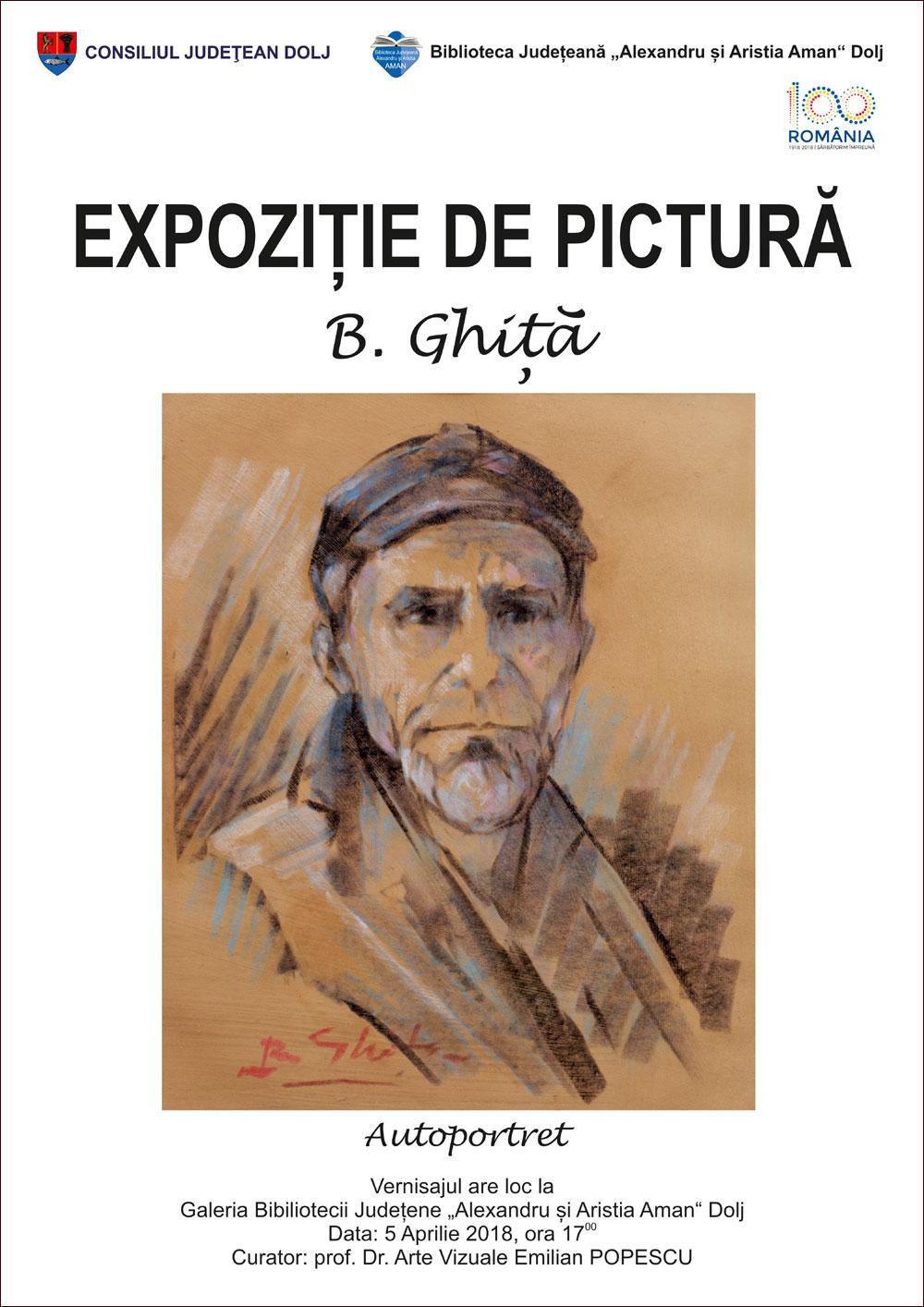 Craiova: Expoziția de pictură semnată de Bebică Ghiță, la Biblioteca Aman